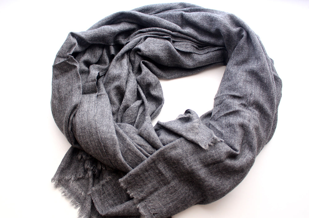 Dark Gray Color 100% Cashmere Blanket - nepacrafts
