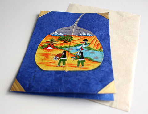 Bodhileaf Greetings Card-Newar Volks from Kathmandu Valley - NepaCrafts