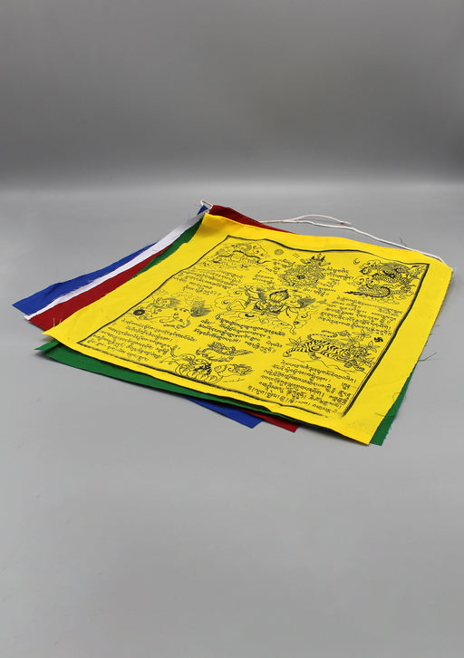 Tibetan Mantras and Symbol Printed Windhorse Prayer Flag