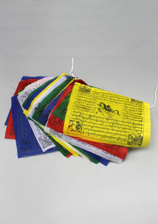25 Sheets of Polyester Windhorse Prayer Flags, Tibetan Lungta