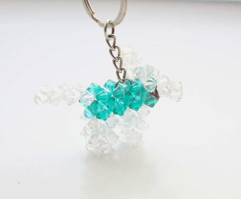 Doggy Keyring, Small Puppy Resin Crystal Key chain - NepaCrafts