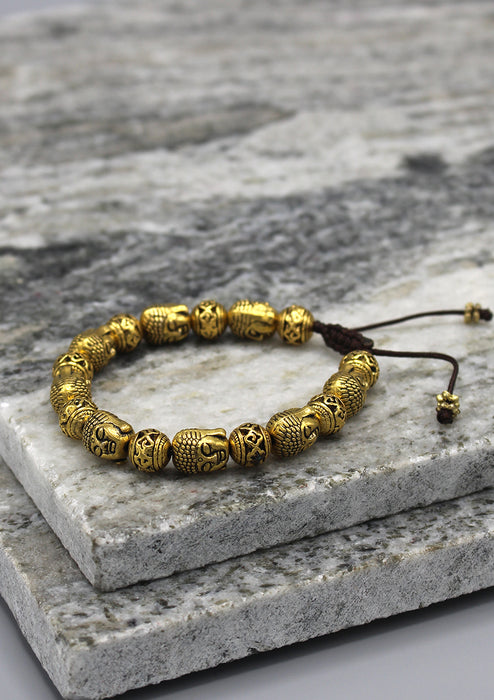 Brass Buddha Head Fine Carving Bracelet - nepacrafts