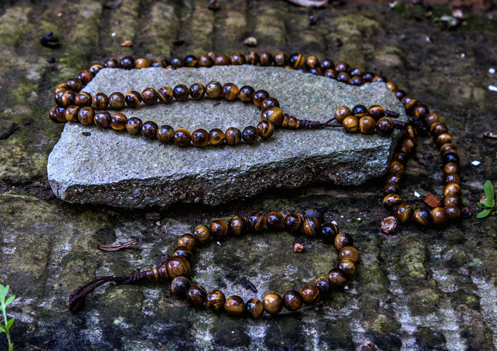 Tiger's Eye Prayer Mala - nepacrafts
