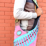 Colorful Sun Patchwork Jogi Bag, Hippie Side Carry Bag - NepaCrafts