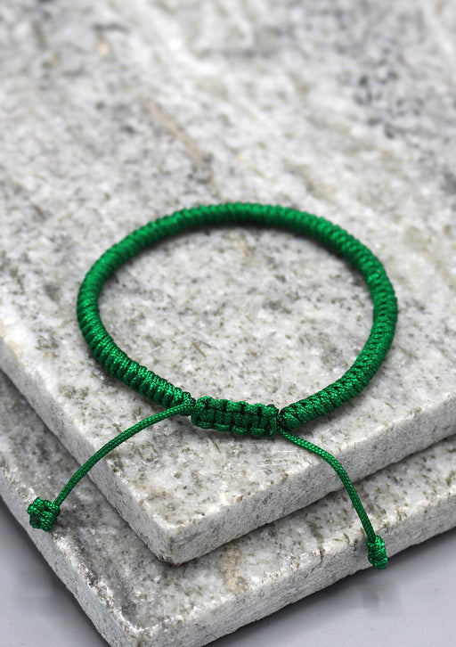 Handmade Green Lucky Knots Protection Bracelet