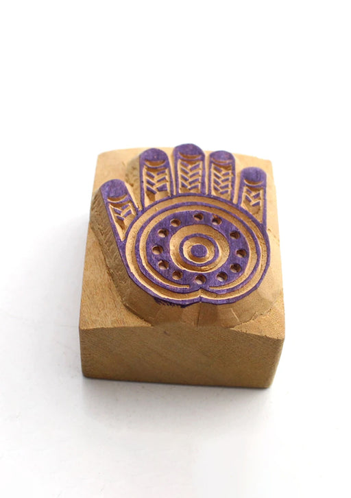 Blessing Palm Wooden Block Print Stamp