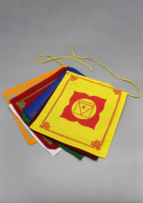 The Seven Chakra Prayer Flags