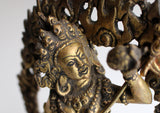 "Bajrayogini Copper Statue with Full Frame 9"" - NepaCrafts"