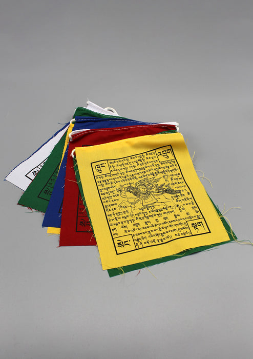 Wind Horse with Tibetan Text Printed Cotton Prayer Flags