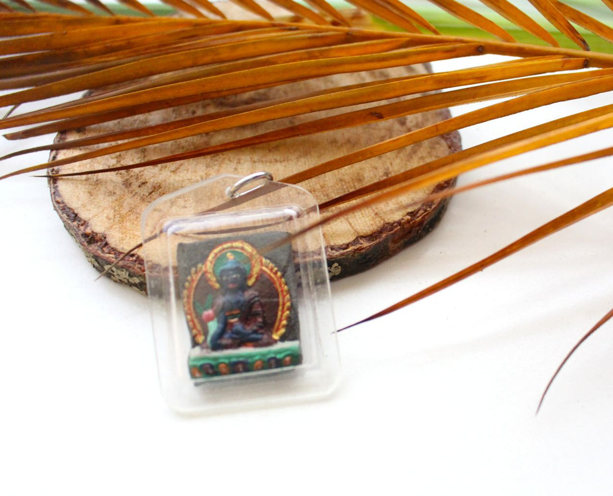 Medicine Buddha Mendrup Consecrated Blessed Protection Amulet - nepacrafts