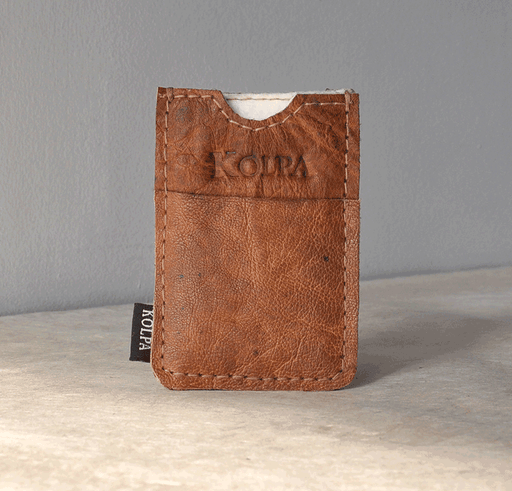 Leather and Nettle Card Wallet - nepacrafts
