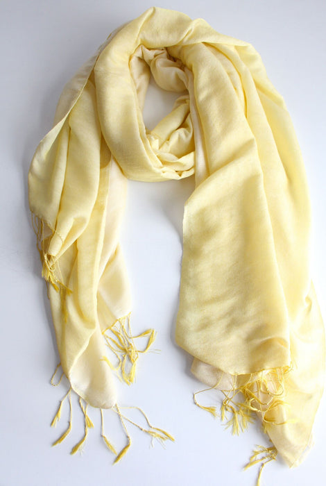 Silky Soft Delicate Water Pashmina Scarf-Primrose - nepacrafts