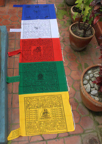 Large Cotton Vertical Prayer Flag-Darchor - nepacrafts
