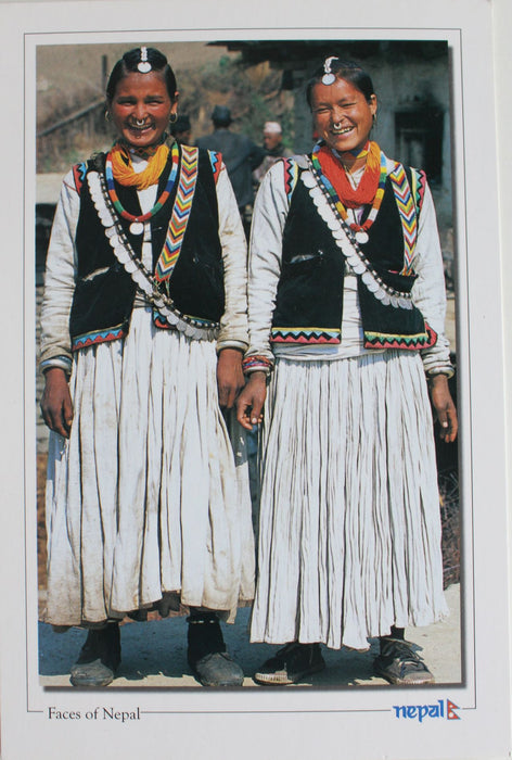 Faces of Nepal postcard-Women in a Traditional Attire - nepacrafts