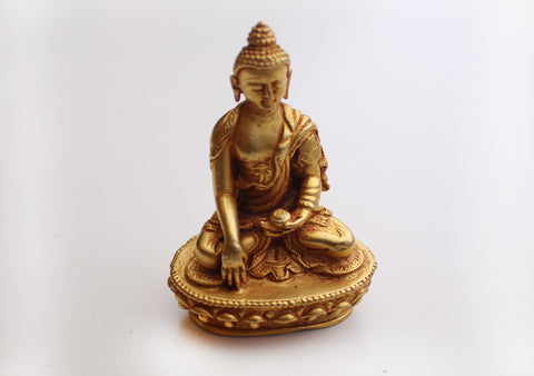 Gold Plated Mini Shakyamuni Buddha Statue - NepaCrafts
