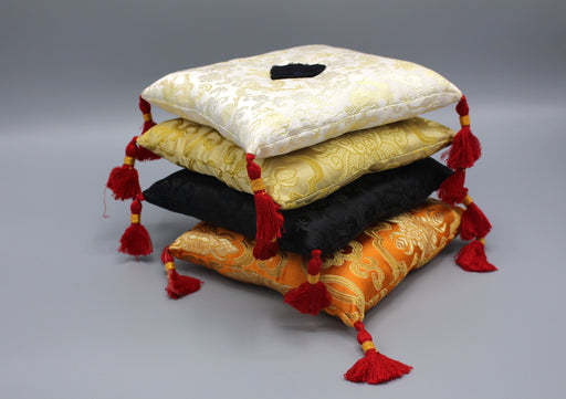 Embroidered Square Pillows for Singing Bowls - nepacrafts