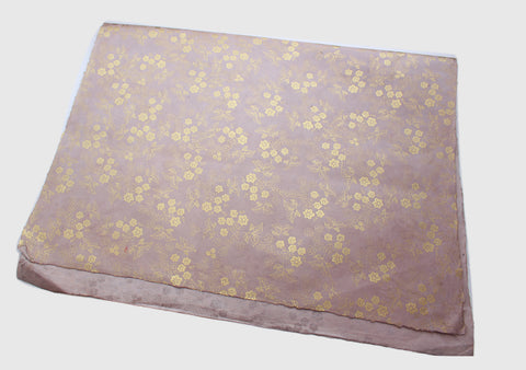 Golden Flower Printed Dark Beige Color Lokta Gift Wrapping Paper - NepaCrafts