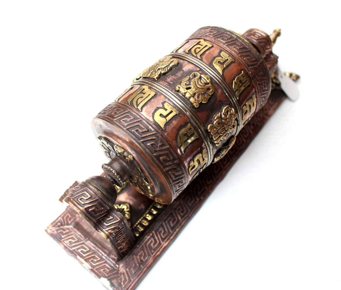 Exclusive Wall Mounting Copper Prayer Wheel - nepacrafts