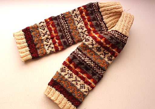 Maroon Knee High Woolen Legwarmers