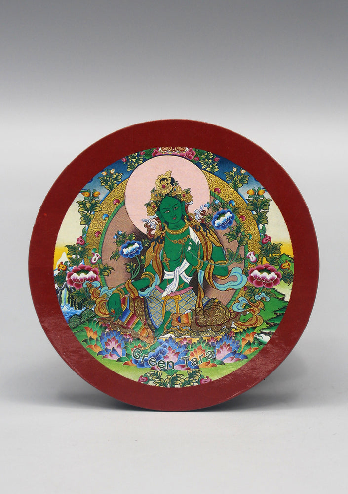 Green Tara Printed Fridge Magnet - nepacrafts