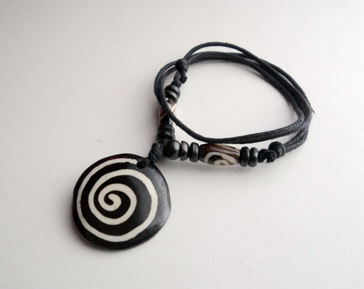 Spiral Design Bone Necklace - nepacrafts