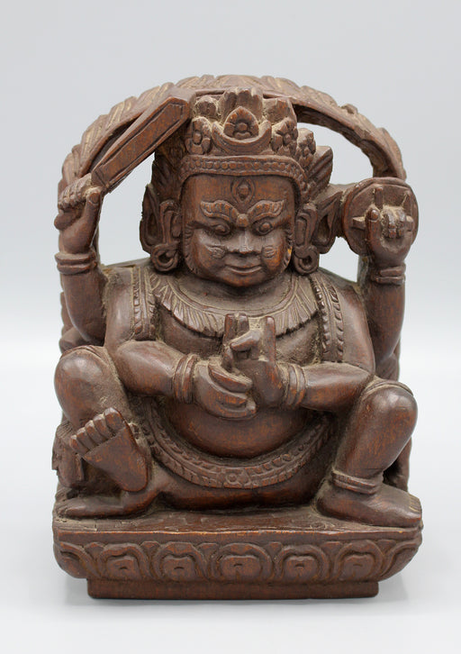 HandCrafted Wooden Bhairav Statue - nepacrafts