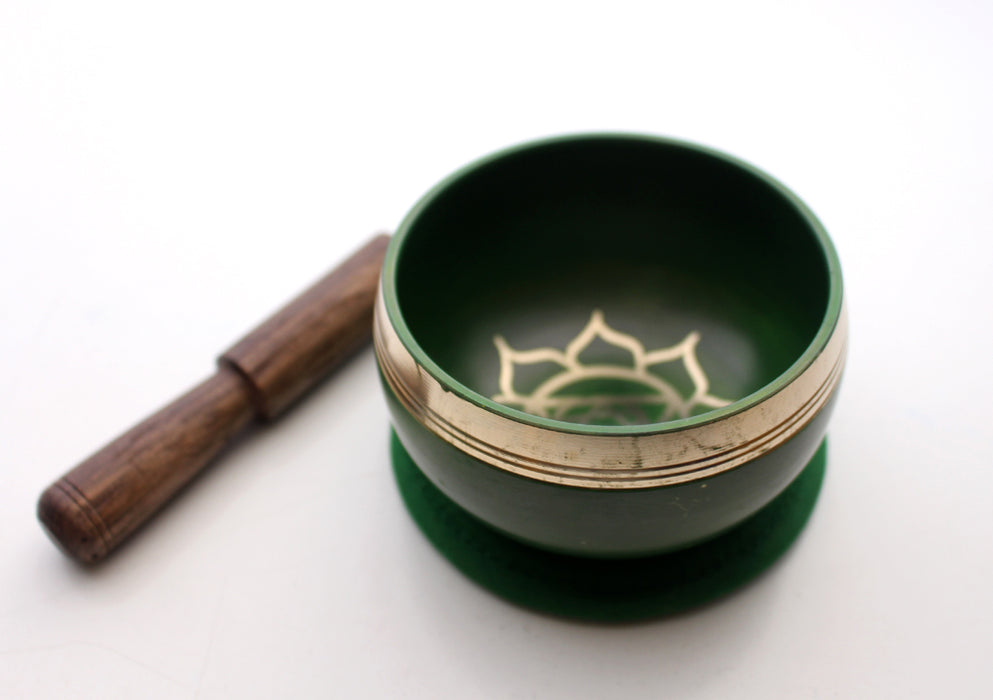 Throat Chakra Painted Singing Bowl with Cushion and Stupa Stick in a Gift Box - nepacrafts