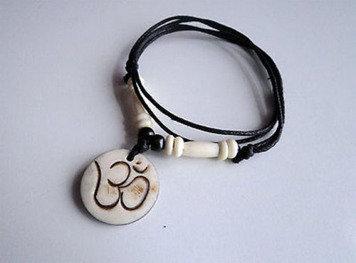 Spiritual OM Bone Necklace - nepacrafts