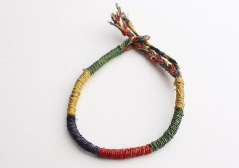 Handmade Trendy and Colorful Hemp Rope Bracelet - NepaCrafts