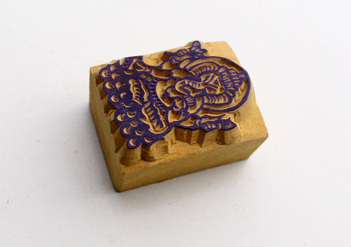 Lord Ganesha Mini Wooden Block Print - nepacrafts