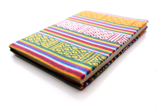 Colorful Design Bhutanese Fabric Hard Cover Lokta PaperJournal Book - nepacrafts