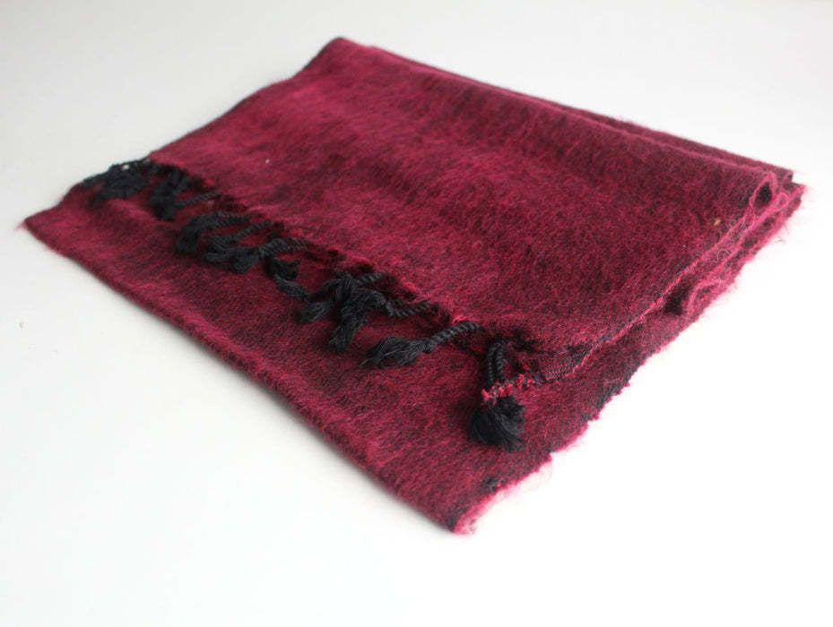 Three Ply Maroon Woolen Muffler - nepacrafts