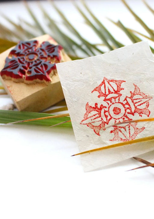 Double Dorjee Wooden Block Stamp