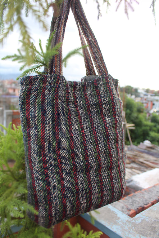 Women Side Carry Hemp Shopping Bag - nepacrafts
