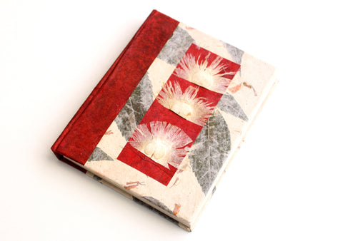 Floral Printed Lokta Paper Journal Book - NepaCrafts