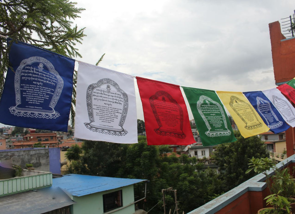 Hemmed Cotton World Peace Flags - nepacrafts