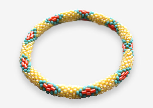 Funky Bright Crocheted Beads Roll On Bracelet RB059 - nepacrafts