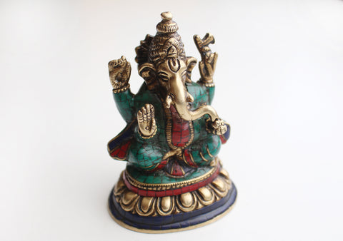 The Lord of Beginning Hindu Deity Ganesha Brass Statue from Nepal