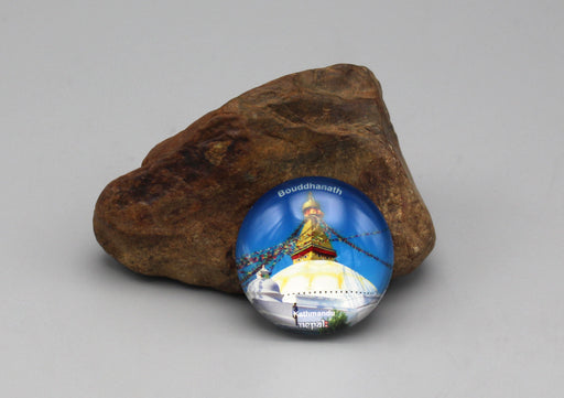 Bouddhanath Stupa Glass Fridge Magnet - nepacrafts