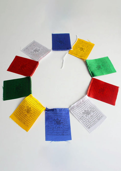 Baby Polyester Silk Windhorse Prayer Flags