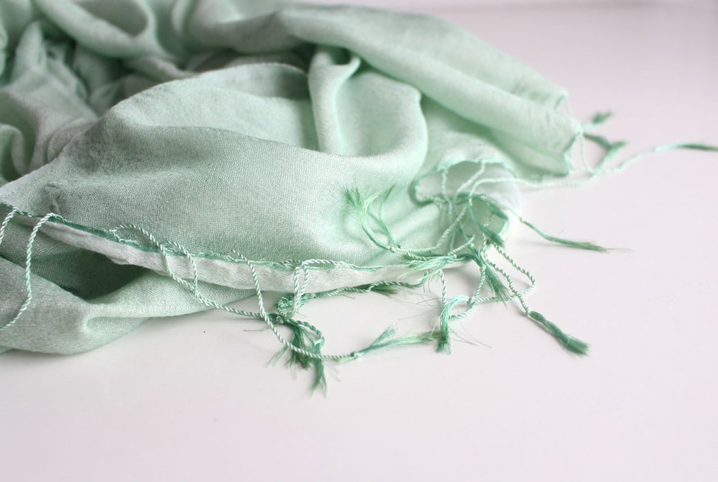 Silky Wedding Greenery Water Pashmina Stoles - nepacrafts