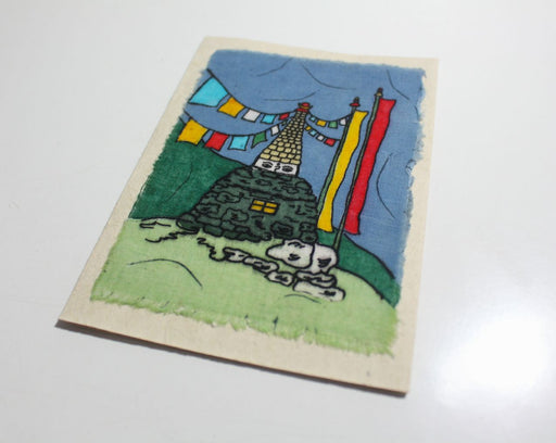 Fair Trade Group of Nepal Batik Stupa Greeting Cards - nepacrafts