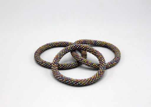 Rainbow Multicolor Nepalese Roll on Bracelet - nepacrafts
