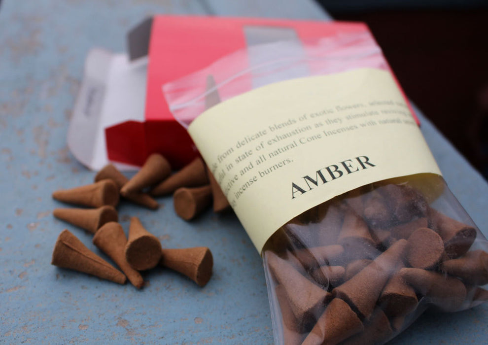 Amber Cone Incense - nepacrafts