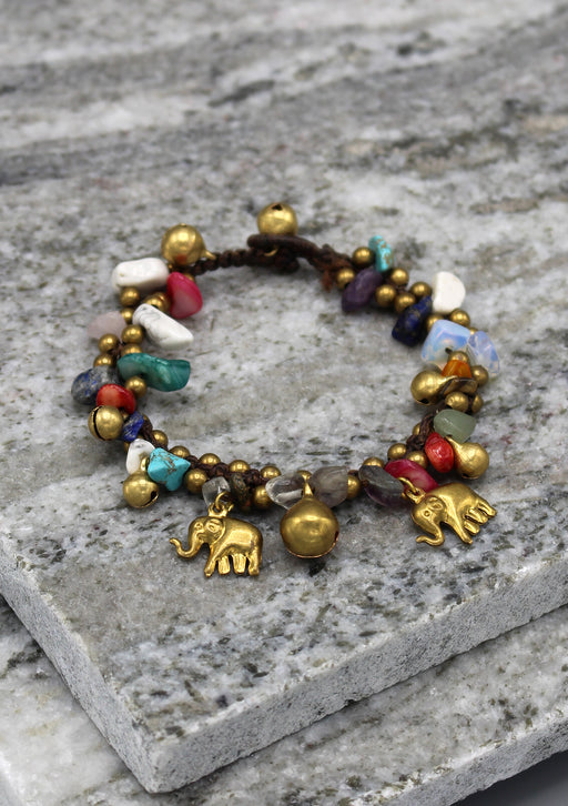 Multicolor Baby Girl Brass Bell Anklet - nepacrafts