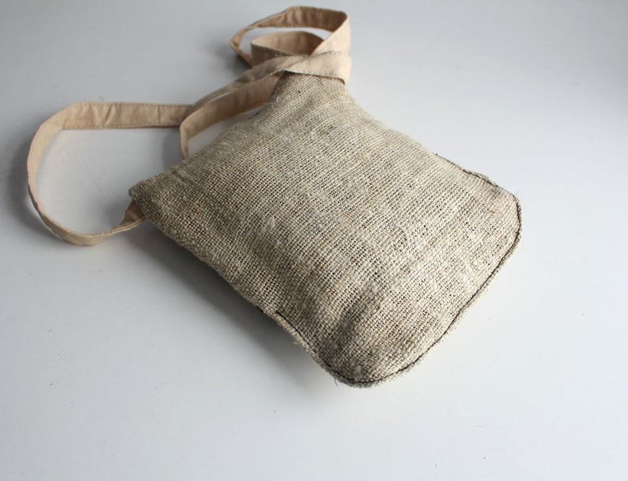 Hemp Cross Body Zipper Bag - nepacrafts