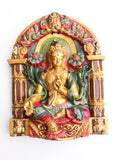 Green Tara Clay Wall Hanging from Nepal - NepaCrafts