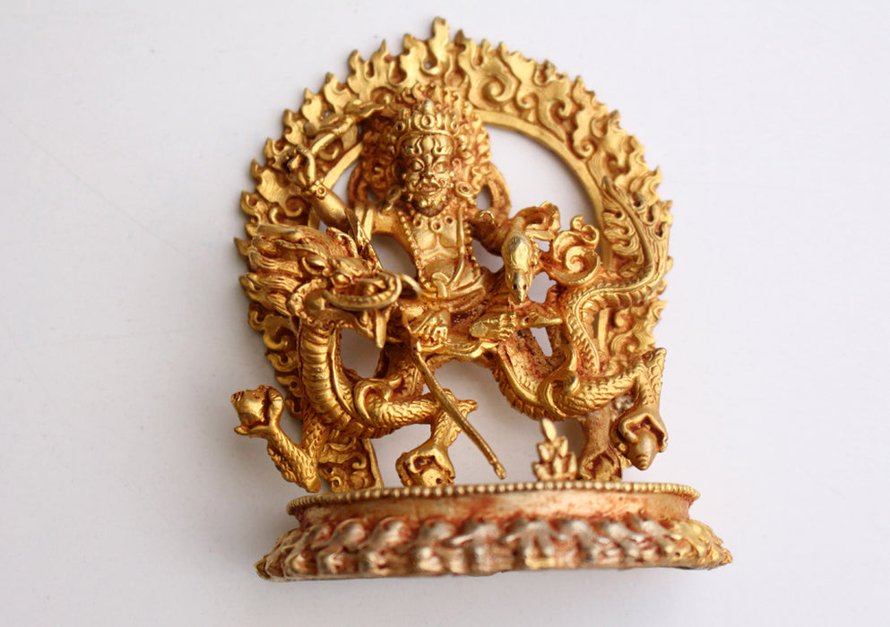 Fully Gold Plated Zambala/Kubera Statue - nepacrafts