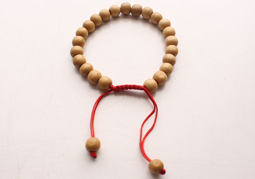 Round Wooden Beads Adjustable Wrist Bracelet - nepacrafts