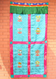 Handmade Tibetan Door Curtain Embroidered with 8 Auspicious Symbol - NepaCrafts